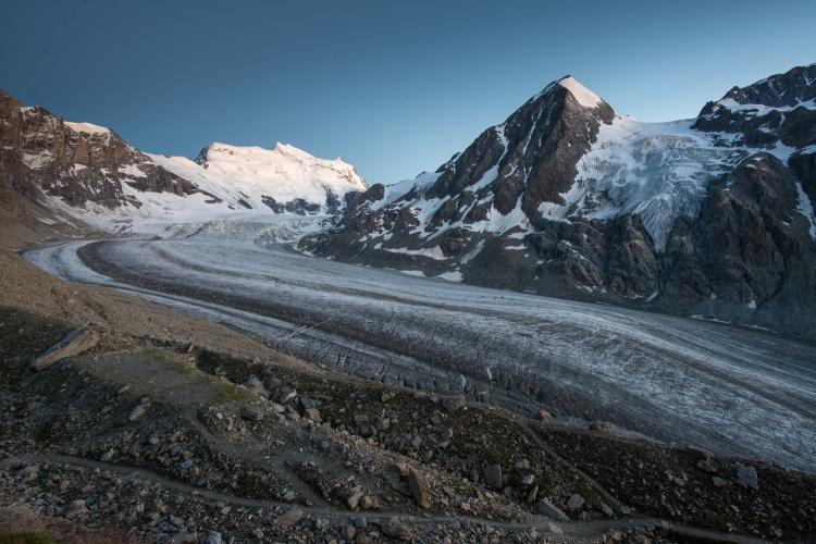 the Corbassière Glacier