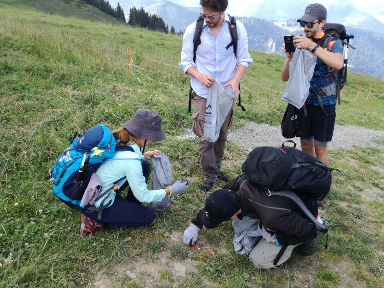 WeHikers at our first Leave No Trace Hike in in Les Diablerets!
